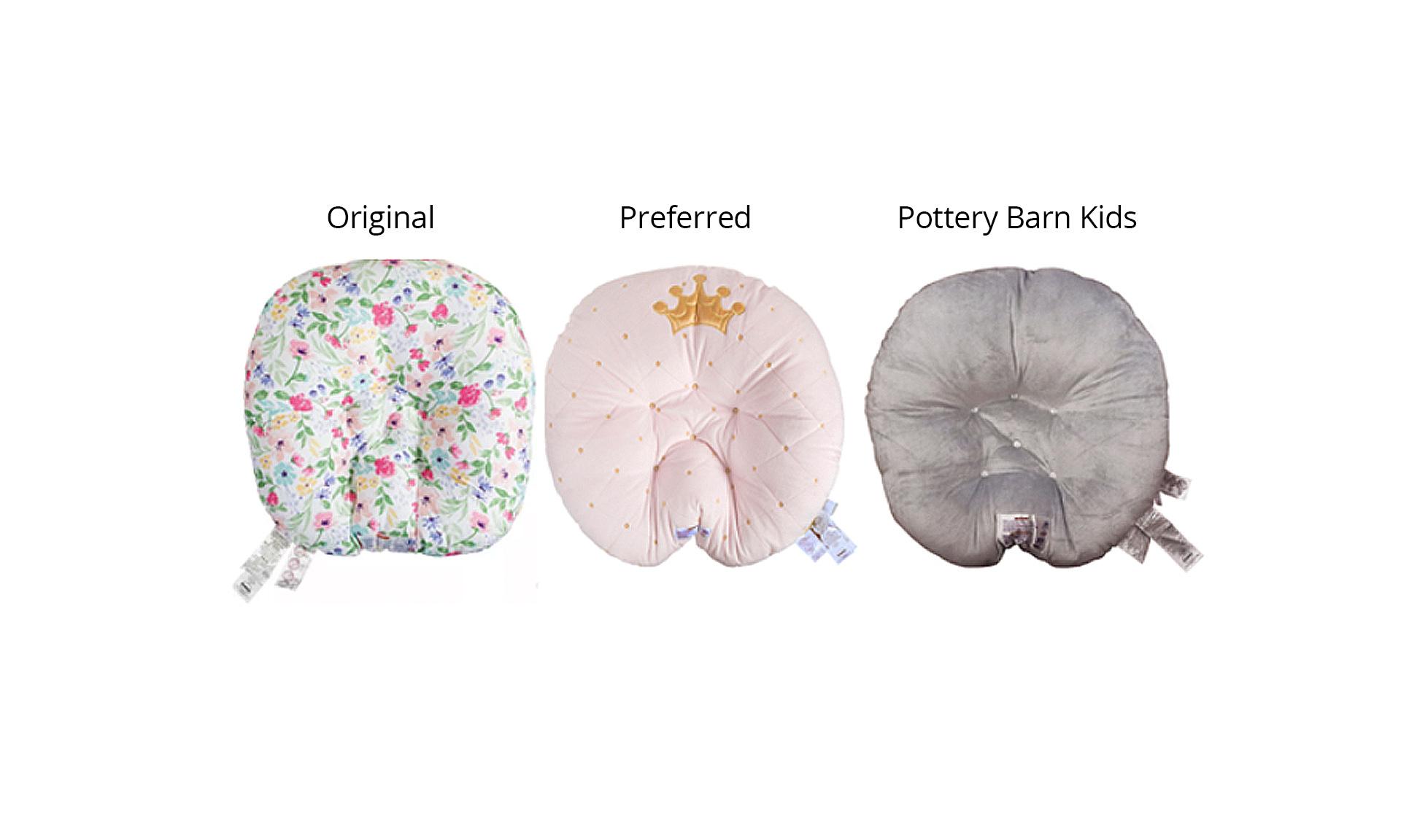 Comparison of different newborn lounger pillows