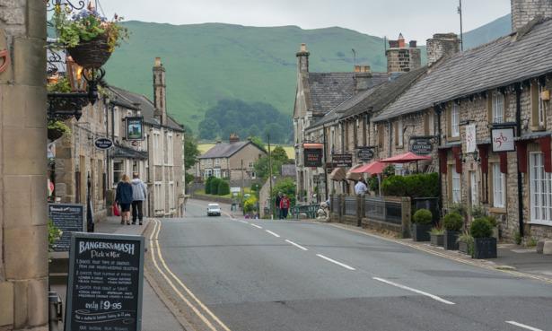 Road in Castleton, Derbyshire