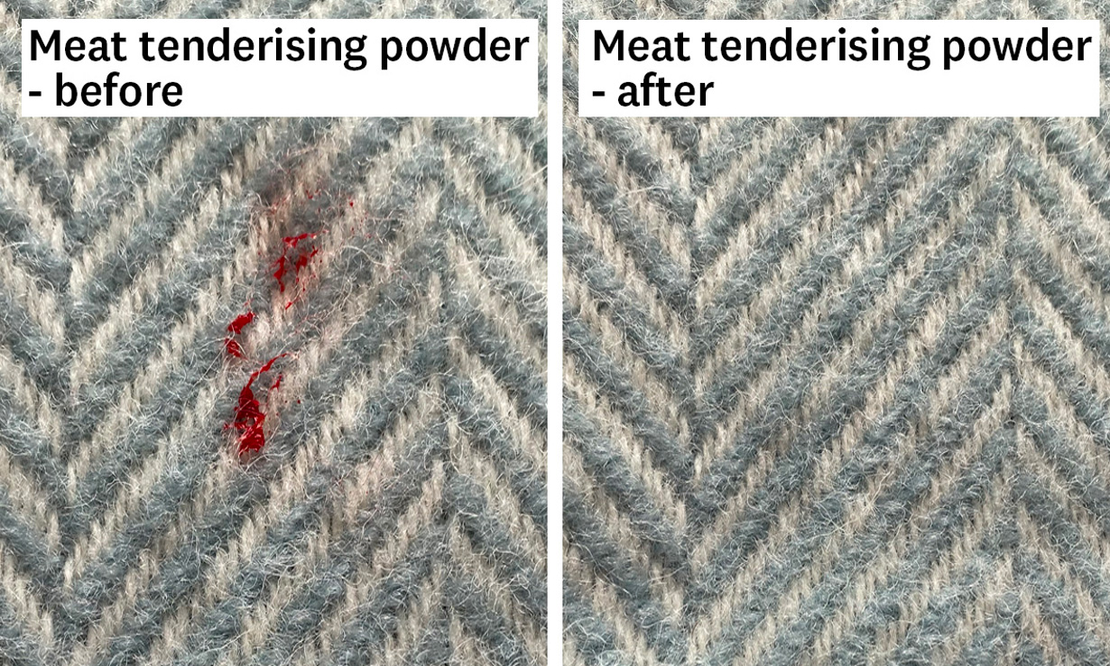 meat tenderising powder before and after