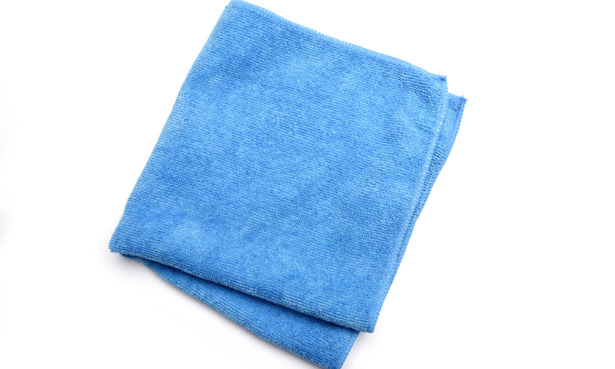 Microfibre cloth you might use to clean a TV screen