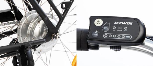 Decathlon Elops KM79 e-bike motor and display