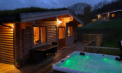 Log cabin with hot tub in Pitlochry
