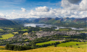 Countryside and Derwentwater in Keswick