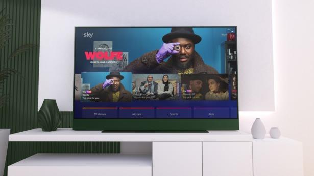 Sky Glass racing green 4K TV