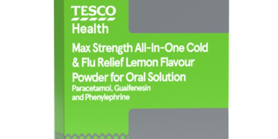 Tesco Max cold & flu sachets recalled