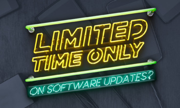 Neon lights say limited time only on software updates?