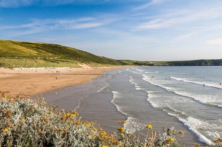 Пляж Вулакомб в Англии