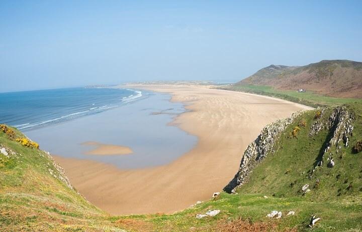 Пляж Россили-бэй в Уэльсе