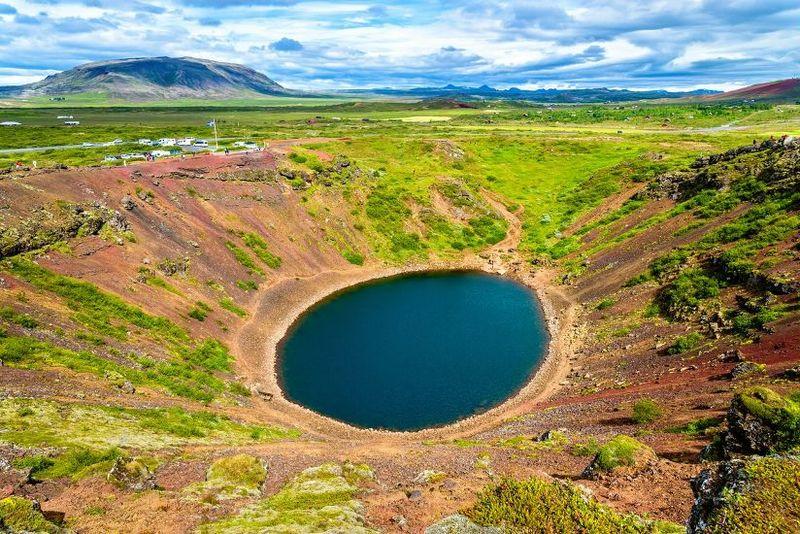 Озеро Керид в Исландии