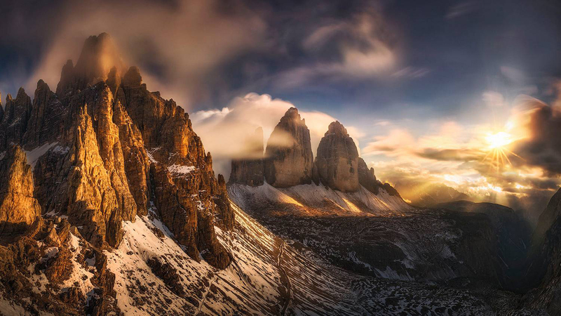 Скалы Тре-Чиме-ди-Лаваредо