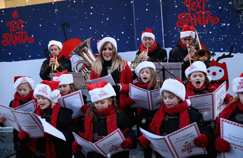 Рождественские пения в Вашингтон-сквер