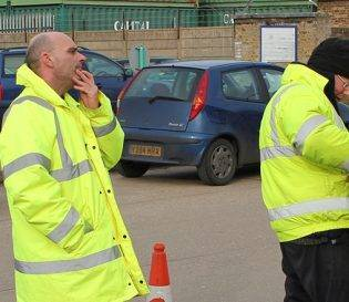 Street Works Ticket training NRSWA workers in high visibility