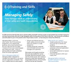 IOSH Managing Safely Fact sheet information