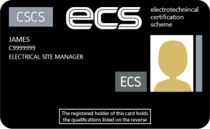 ECS Managers Black Card sample