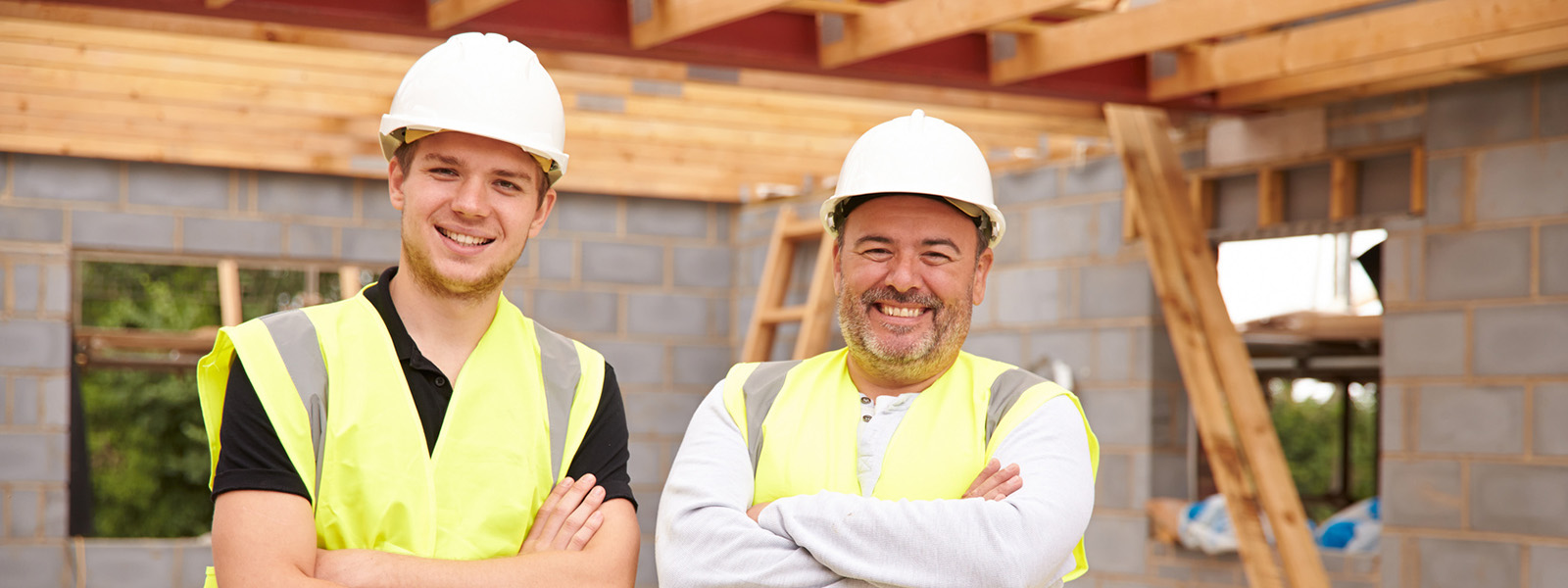 Construction workers on site. Changes to the CSCS card process.