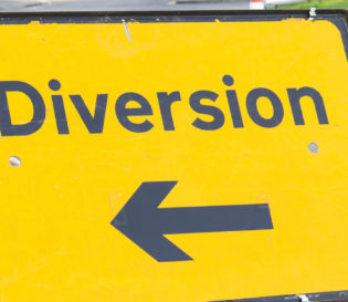 NRSWA sign for road diversion