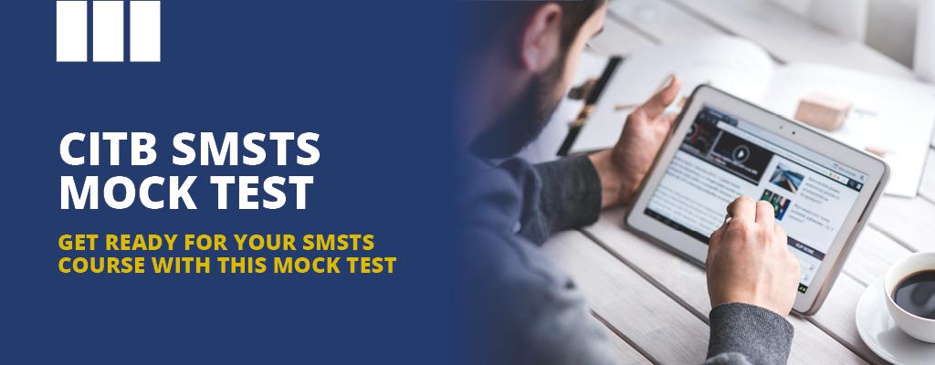 CITB SMSTS Mock test ad, Man using his Ipad