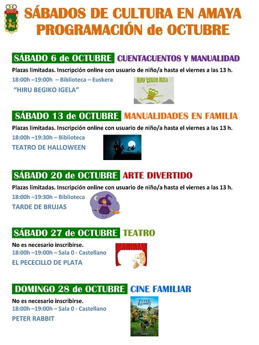 SAbados De Cultura En Amaya Octubre2018web