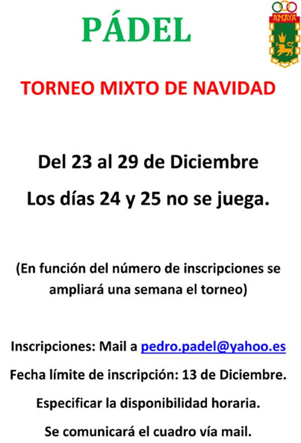 Torneo Mixto De Navidad 2019