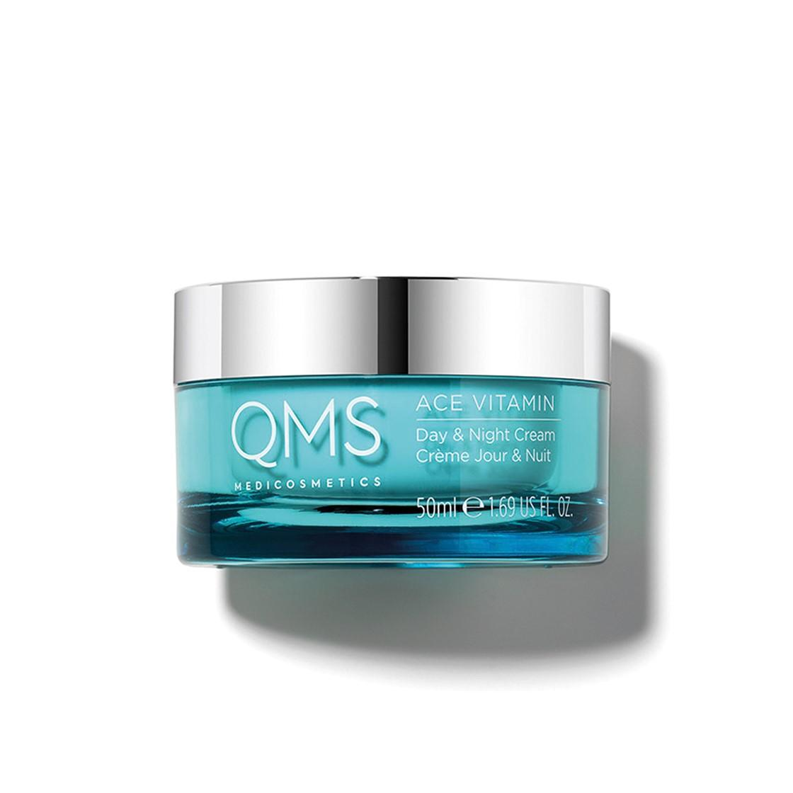 Pot of ACE Vitamin Day & Night Cream from QMS Medicosmetics, ACE Vitamin Cream for hydration 24h