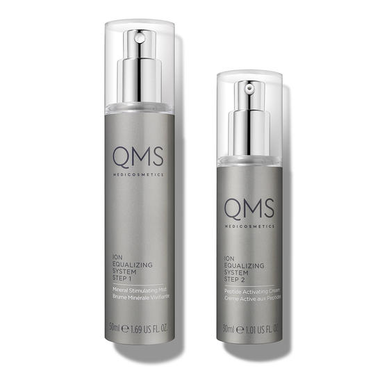 Set of two bottles of Ion Equalizing serums for a two-step routine which boosts the skin's nightly regeneration process