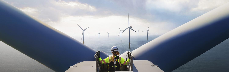 Machine, Engine, Motor, Person, Clothing, Wind Turbine, Turbine, Hardhat, Helmet, Airplane