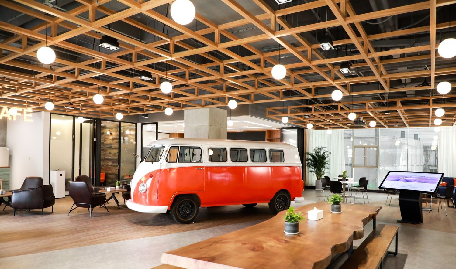 Wood, Chair, Furniture, Vehicle, Transportation, Tabletop, Bus, Indoors, Plywood, Table