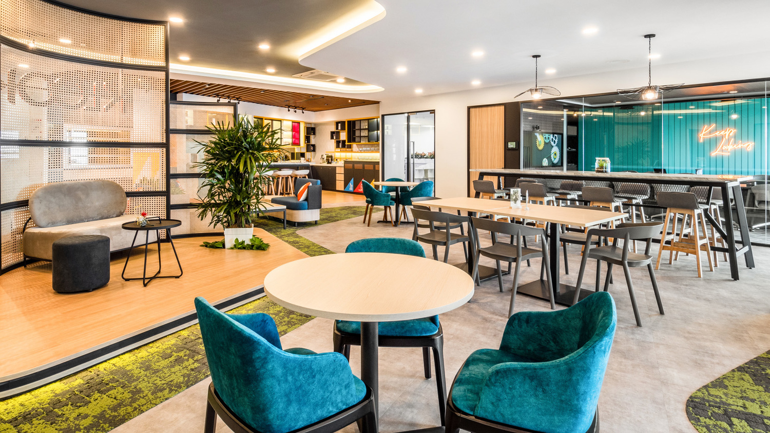 Chair, Furniture, Restaurant, Cafeteria, Cafe, Room, Indoors, Lobby