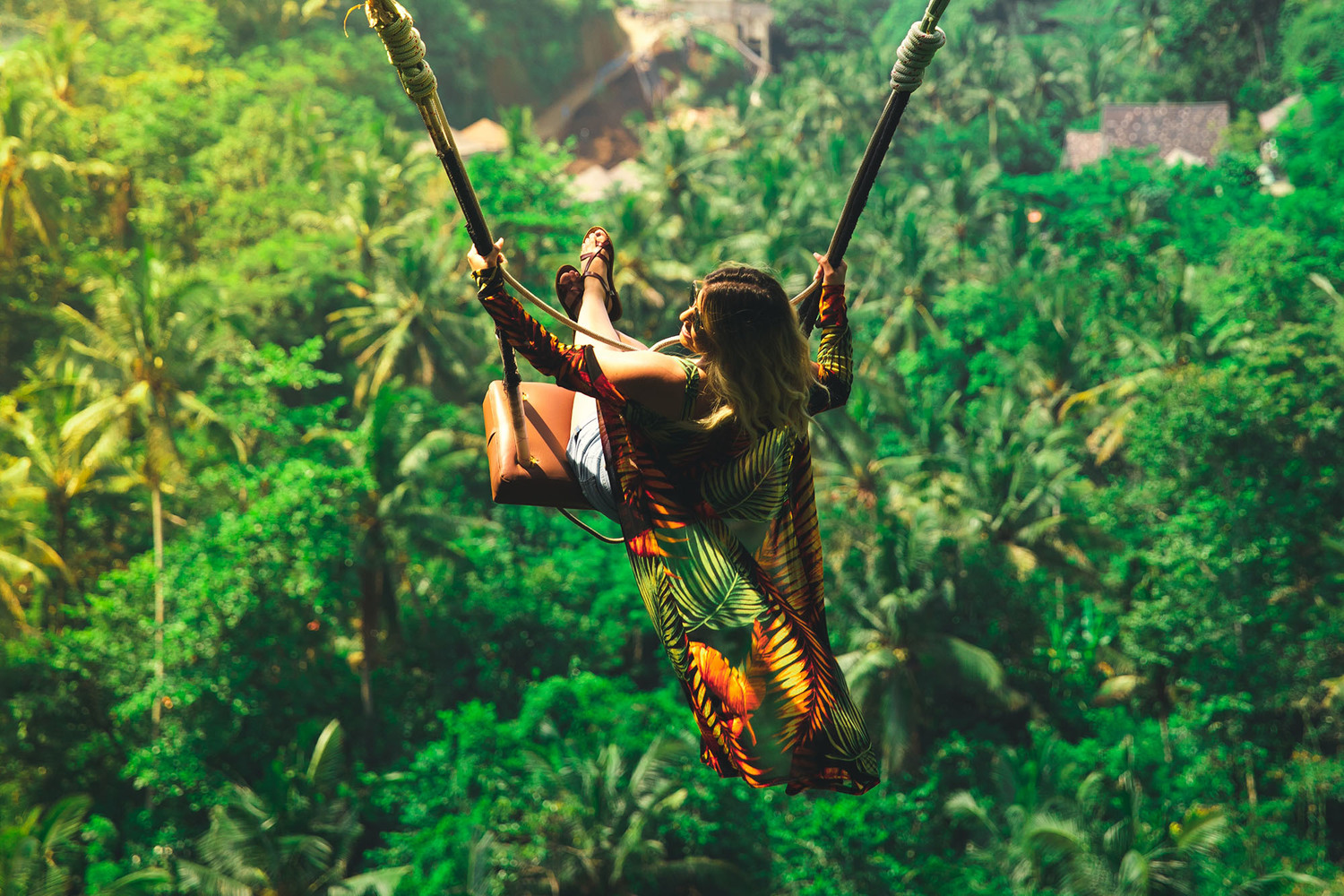 Person, Vegetation, Outdoors, Land, Nature, Adventure, Bungee, Rope, Tree, Jungle