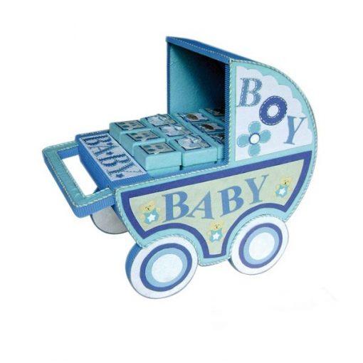 EXPOSITOR CARRO BABY AZUL (SOLO EXPOSITOR)