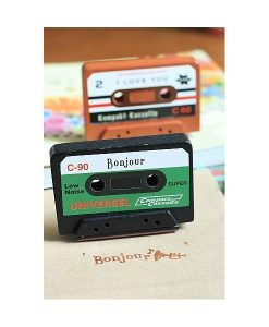 "SELLO CASSETTE ""BONJOUR"" SCRAP EN DISPLAY"