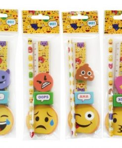 SET 5 PCS PAPELERêA EMOTICONOS DE REGALO