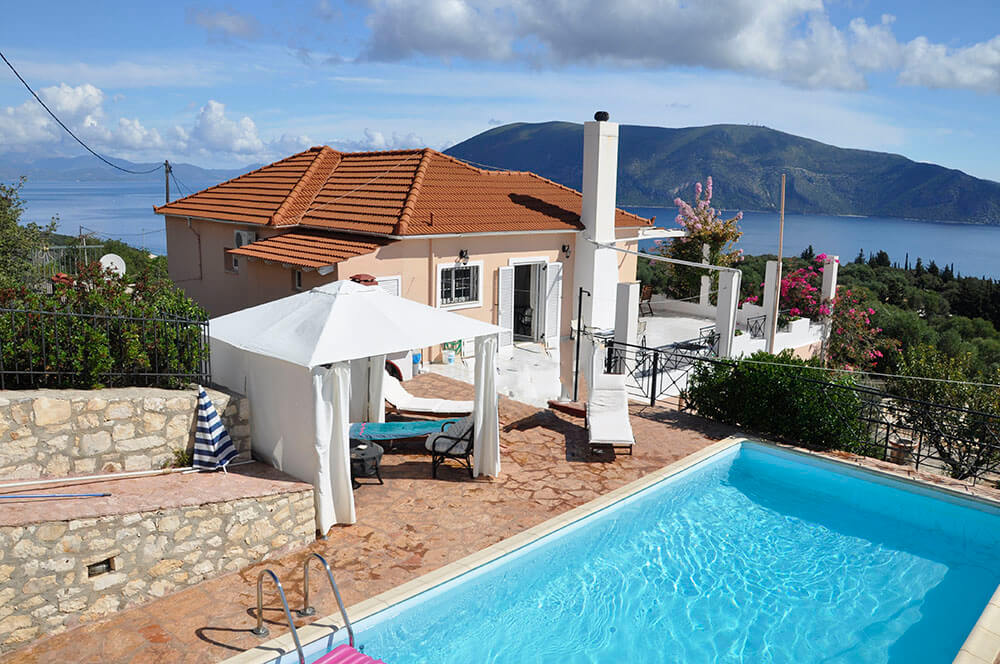 evreti villa holidays on kefalonia