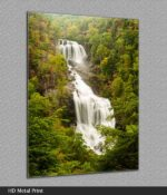 whitewater falls nc metal print