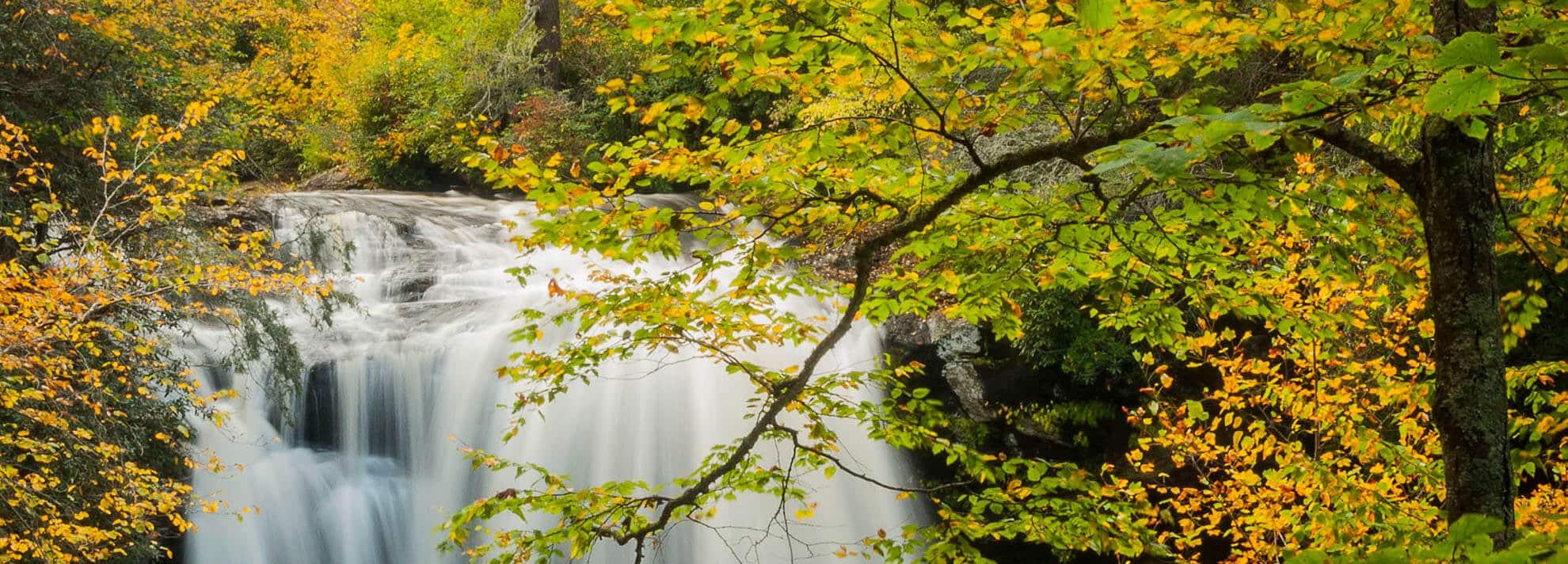 waterfalls near Asheville North Carolina