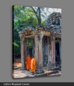 angkor wat buddhist temple canvas