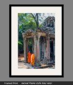 angkor wat buddhist temple framed print