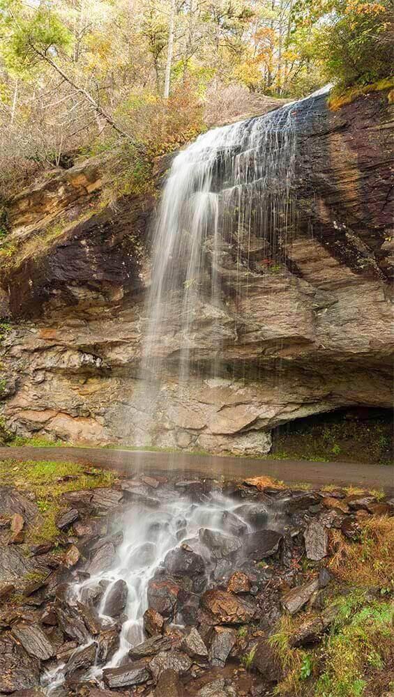 bridal veil falls nc