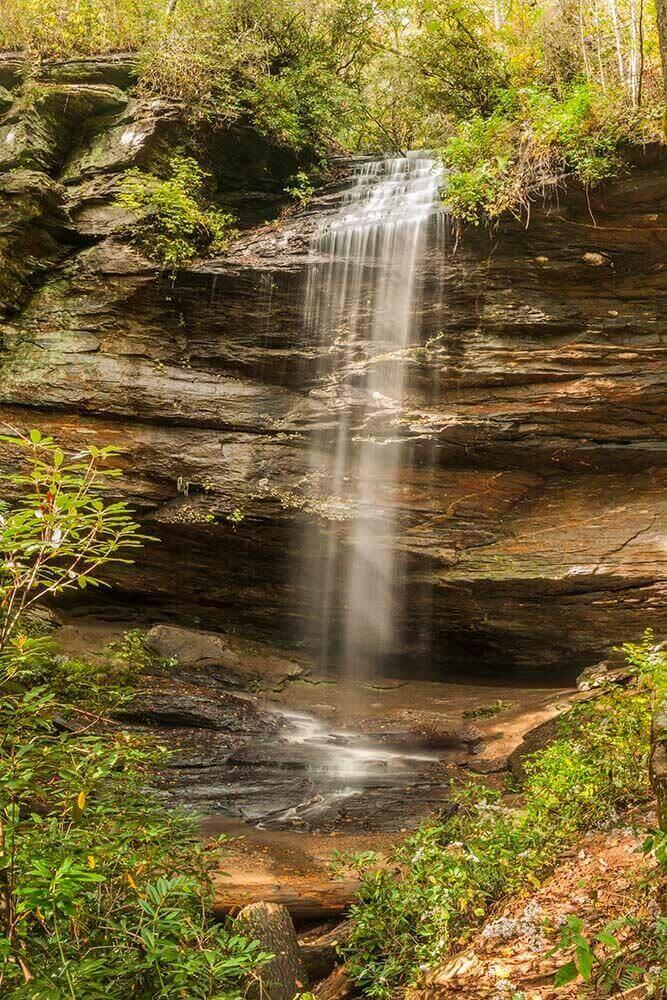 moore cove falls near asheville north carolina