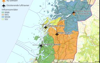Eventuell endring av lufthavnstrukturen på Helgeland – delrapport trafikkanalyser