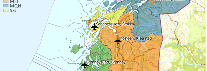 Eventuell endring av lufthavnstrukturen på Helgeland