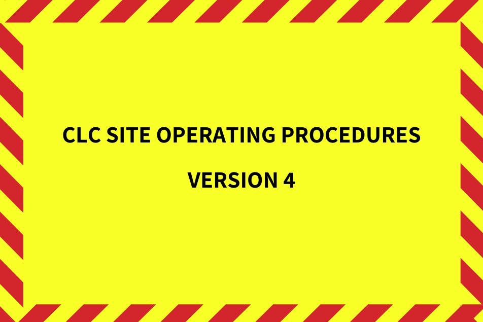 CLC Site Operating Procedures Version 4 Image