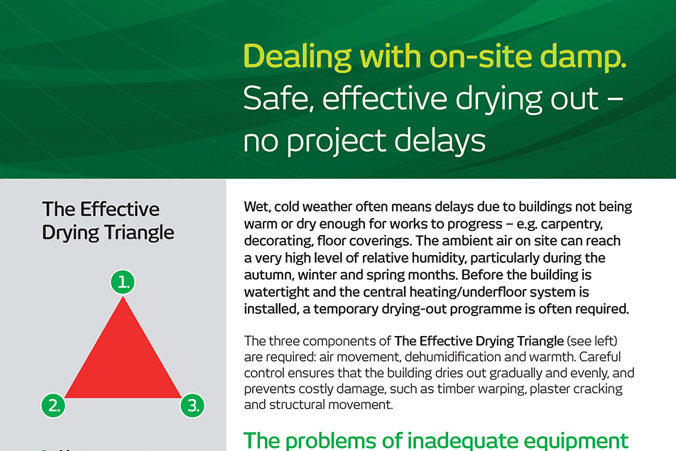 Effective Drying Heating Triangle