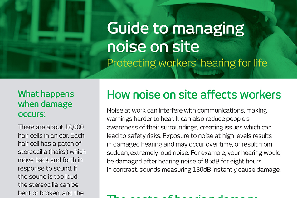 Managing Noise on site