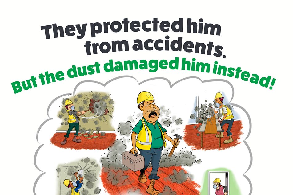 RVT Poster Dust Control Cartoon Dust Awareness