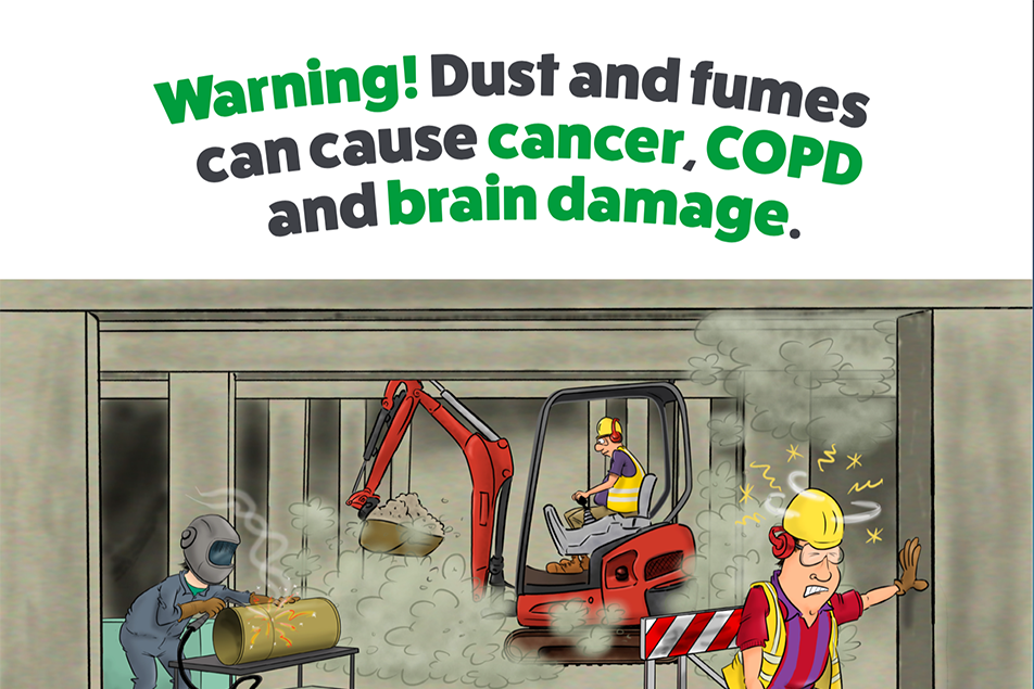 RVT Poster Dust and Fume control in confined spaces Cartoon Poster web version