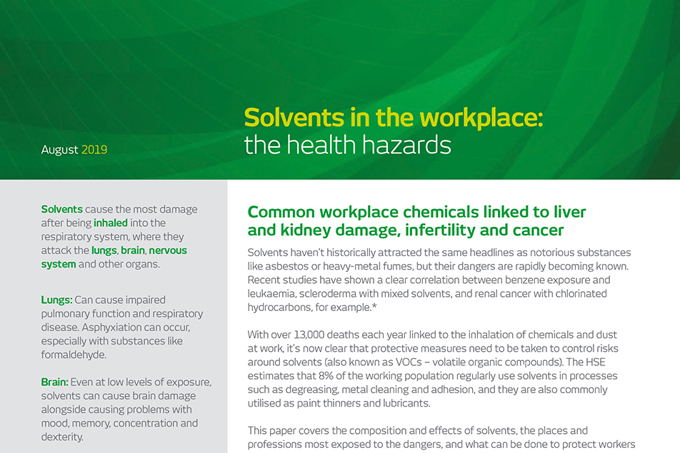 Understanding the dangers of solvents