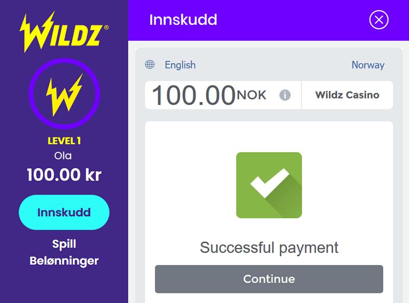 Wildz Skrill screen 4