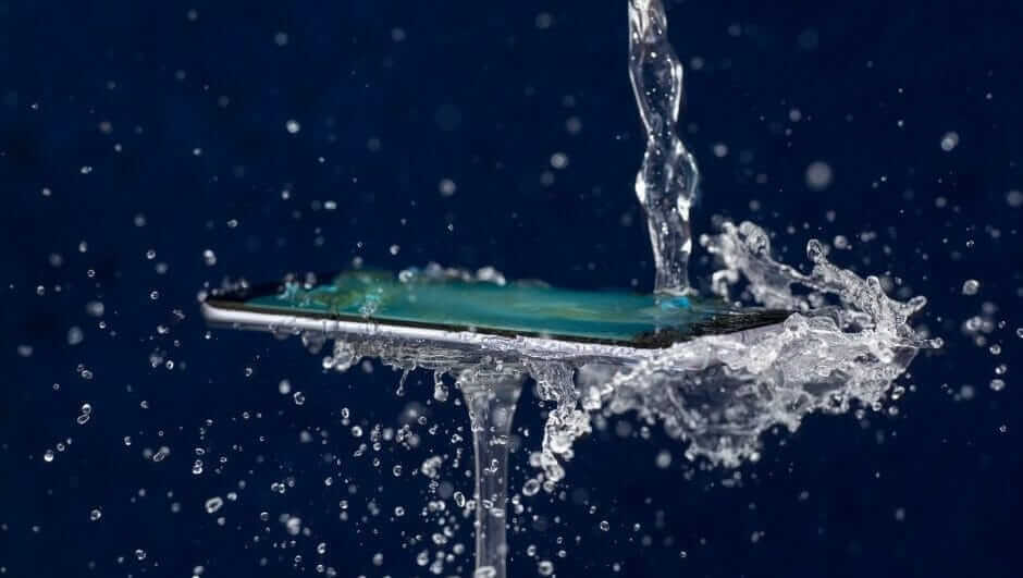 A photo of a waterproof phone