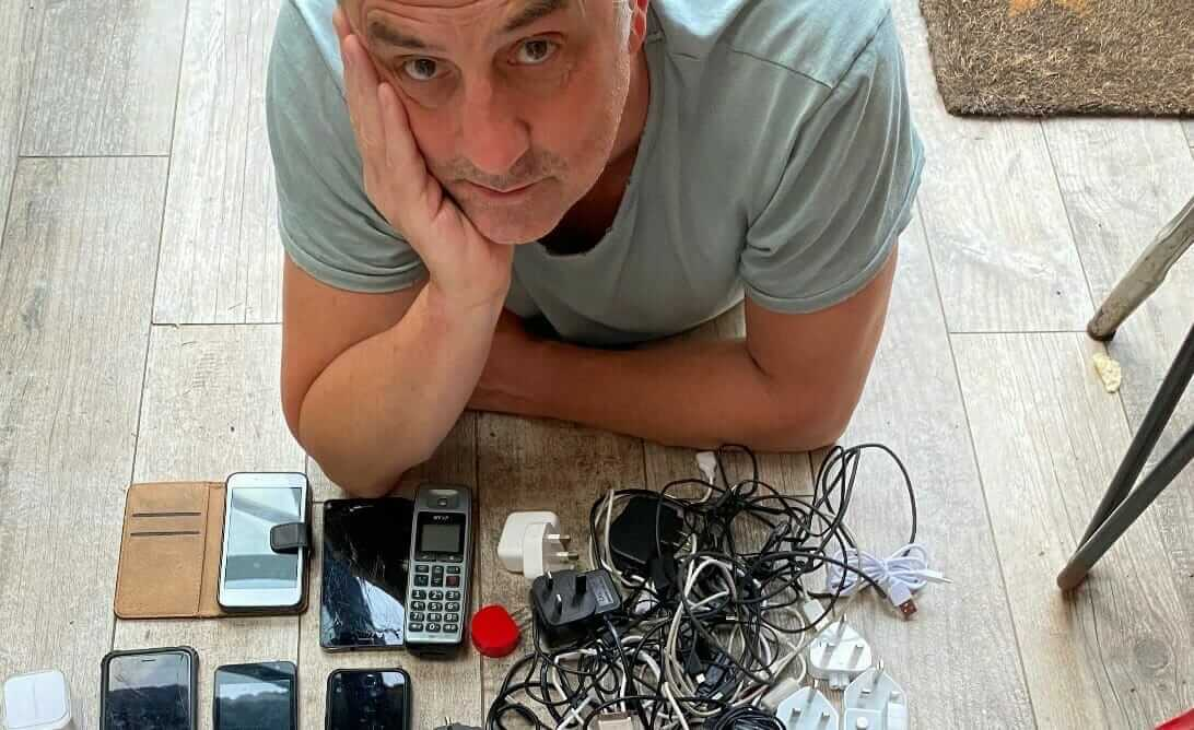 Steve with old electrical items